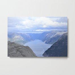 Lysefjord Hike Metal Print