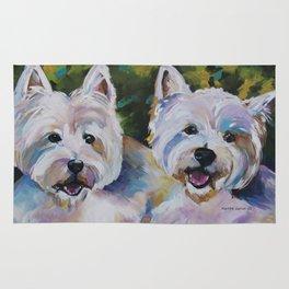 Westie Impressionism Pet Portrait Larsen 1 Rug