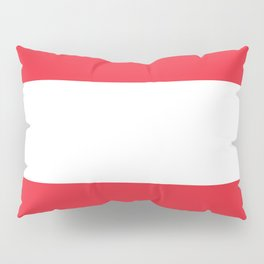 Austrian National flag - authentic version (High quality image) Pillow Sham