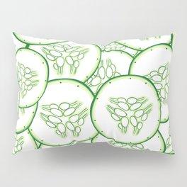 Cucumber slices pattern design Pillow Sham