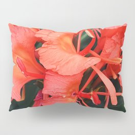 Firecracker Red Jungle Tropical Flower Pillow Sham