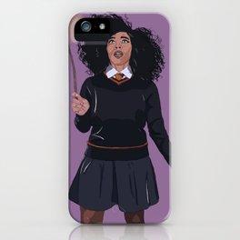 Black Hermione iPhone Case