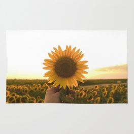 Her Sunflower (Color) Rug