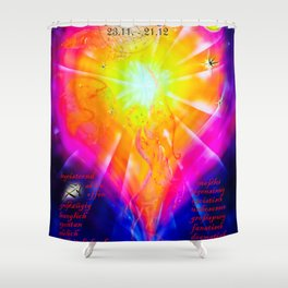 Zodiac sign Sagittarius 3 Shower Curtain