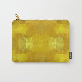 Triangles design in warm yellow colors Carry-All Pouch