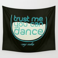 vodka Wall Tapestries featuring Says Vodka by Daniac Design