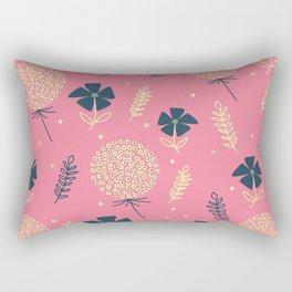 flower pattern spring leaves Rectangular Pillow