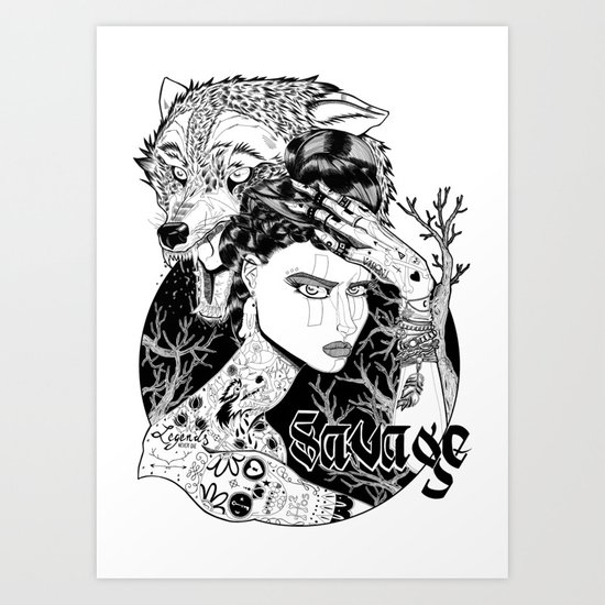 Be one with the wild Art Print