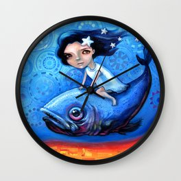 Fishing Girls Wall Clock