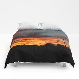 Country Sunset 2 Comforters