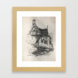 Cottage at Alderley Edge Framed Art Print