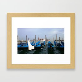 Gondola in  Venice Italy Framed Art Print