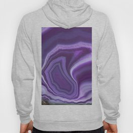 Purple colored agate Hoody