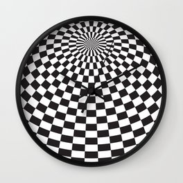 Squares On The Ball Wall Clock