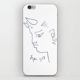 Jean Cocteau Tete de Faune (Head of Fauna), Artwork, Posters, Prints, Tshirts, Men, Women, Kids iPhone Skin