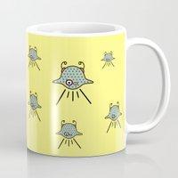 ufo Mugs featuring UFO by Joe Pansa