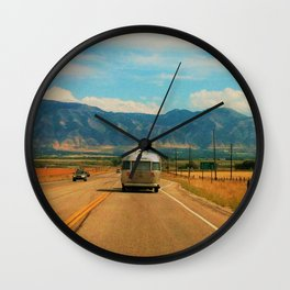 Life on the road Wall Clock