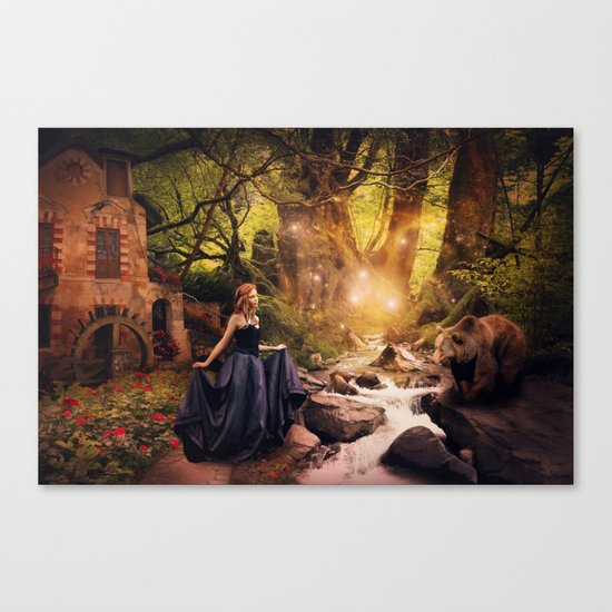 Masha and the Bear Canvas Print