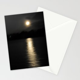 Moonset on the Bay Stationery Cards