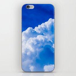 White clouds in the blue sky iPhone Skin