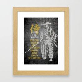 Virtues of Samurai Framed Art Print