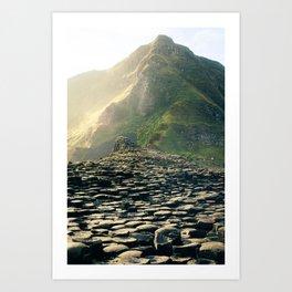 Madeira stone path leading into the mountains Art Print