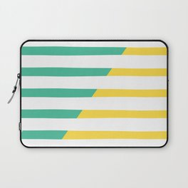 Beach Stripes Green Yellow Laptop Sleeve