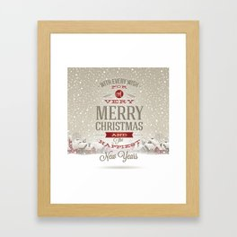 Merry Christmas and Happy New Year Framed Art Print