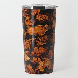 Autumn Oak Leaves Travel Mug