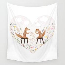 fox philosophers Wall Tapestry