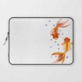Goldfish, two fish, Koi Asian Style watercolor art, feng shui Laptop Sleeve