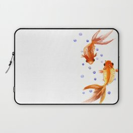 Goldfish, two fish, Koi Asian Style watercolor art, feng shui Laptop Sleeve