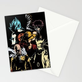 Anime heroes 3 Stationery Cards