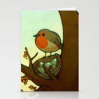 robin Stationery Cards featuring Robin by loish