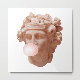 Pink Bubble Gum Metal Print