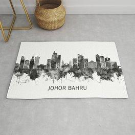 Johor Bahru Malaysia Skyline BW Rug