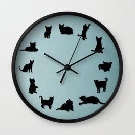 Cat O'Clock Wall Clock