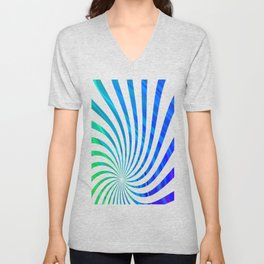 stripes wave pattern 1 stdv Unisex V-Neck