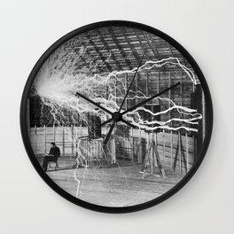 Nikola Tesla Electricity Wall Clock