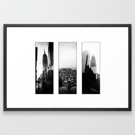 New York Triptych Framed Art Print