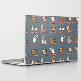 English Bulldog Yoga Laptop & iPad Skin