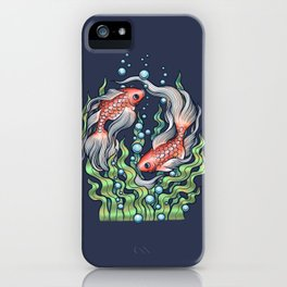 Golden Fish 3 iPhone Case