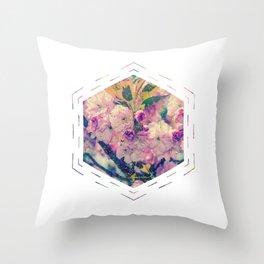 Subtly Flourishing - Hexagon Throw Pillow