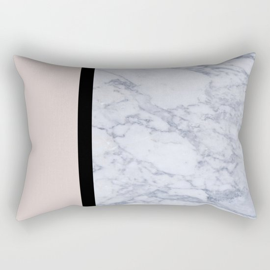 Modern minimalist blush marble Rectangular Pillow