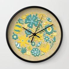 Little Flower Circle Wall Clock