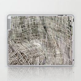 textured jute fabric for background and texture Laptop & iPad Skin