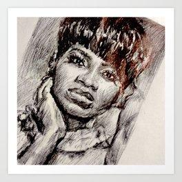 Black Woman in the Mirror Art Print