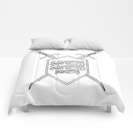 Crossed Swords and Shield Outline Comforters