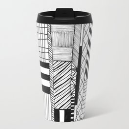 Mono Geo Lines Travel Mug