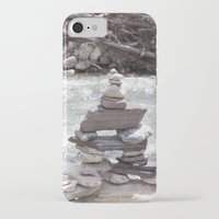 allyson johnson iPhone & iPod Cases featuring Johnson Canyon Inukshuk by RMK Photography